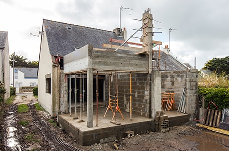 Installation avant extension de maison