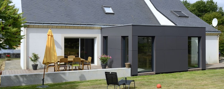 Extension Toit Plat Anthracite