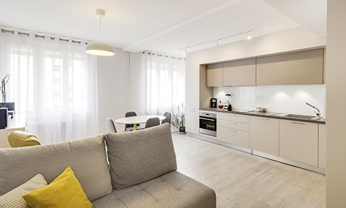 rénovation moderne d'un appartement