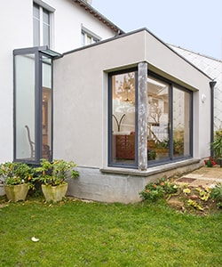 extension maison architecte toit plat
