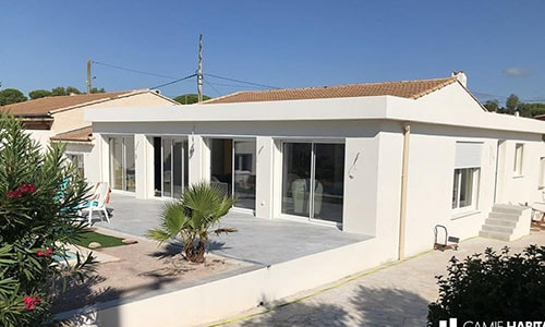 extension de maison de plain pied en photo