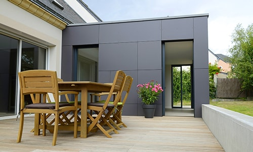 extension modulaire design gris anthracite