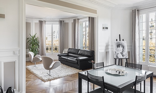 appartement haussmannien rénové paris