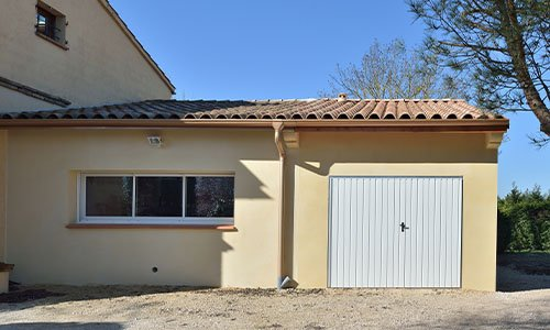 Une extention de garage accolé